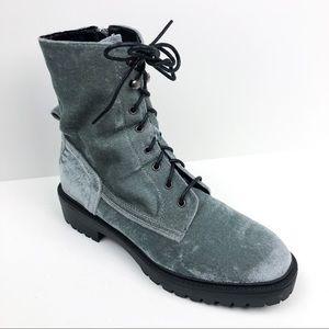 Coolway Gray Velvet Draco Boot